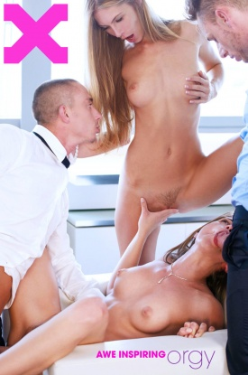 Caprice and Angelica in Awe Inspiring Orgy