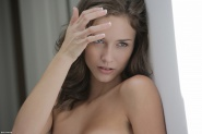 Sexy brunette babe Malena Morgan stripping from X-Art Beauties