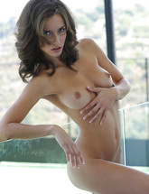 Sexy erotic babe Malena Morgan strip teasing from X-Art Beauties