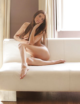 Skinny erotic babe Monica posing in nude art from X-Art Beauties
